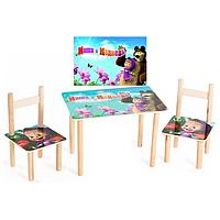 Столик + 2 стульчика Маша и медведь
