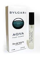 Мужской мини-парфюм с феромонами Bvlgari Aqua Pour Homme (Булгари Аква пур Хоум), 10 мл