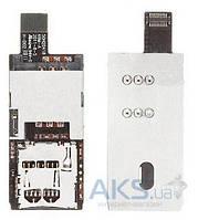 Шлейф для HTC S510b Rhyme с коннектором SIM-карты и карты памяти Original