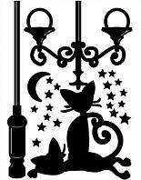 Наклейки декор Коты и звезды размер 65 х 50 см