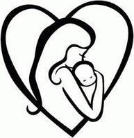 Виниловая интерьерная наклейка -Мама с ребенком