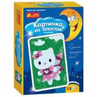 """Раскраска по номерам с блёстками """"Котёнок"""" RANOK Creative, 4004-07"""