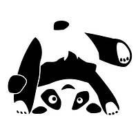 Виниловая интерьерная наклейка - Панда стоит на голове
