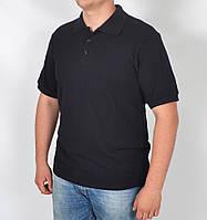 Летняя мужская футболка - поло (темно-синяя)