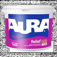 Aura Dekor Relief 9л - фасадная структурная краска