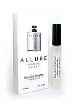 Мужской мини-парфюм с феромонами Chanel Allure Homme Sport (Шанель Аллюр Хом Спорт),10 мл
