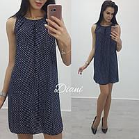 Легкое платье с шифона с поясом (21409)