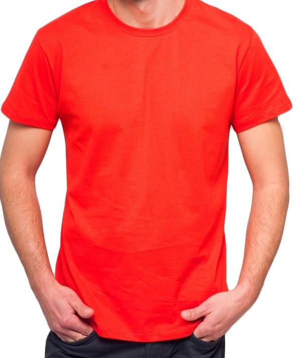 bcce486cf7f50 Красная футболка мужская спортивная летняя без рисунка трикотажная хб  (Украина) - Интернет магазин Sport