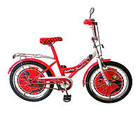 Велосипед 2-х колесный, Кошка 20 дюймов, со звонком, без дополнительных колес, 172029