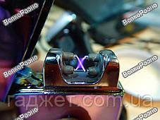 Импульсная электрическая зажигалка с аккумулятором двойная плазма, фото 2
