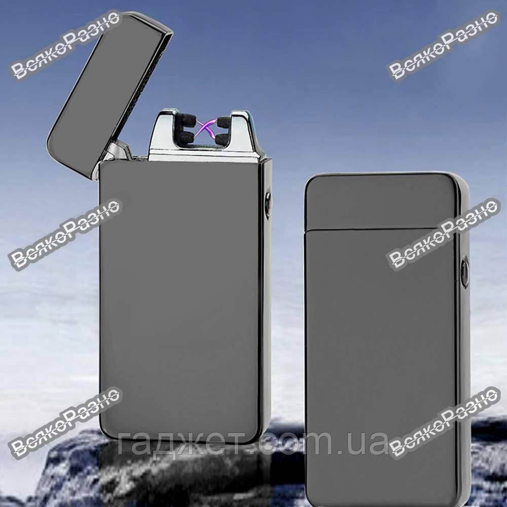 Импульсная электрическая зажигалка с аккумулятором двойная плазма