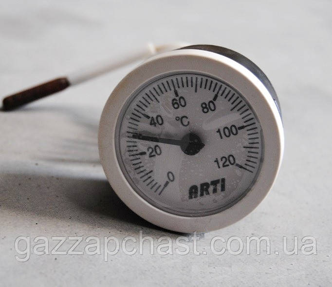Термометр капиллярный круглый Ø 52 мм, 0-120ºС (T52)