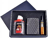 Подарочный набор 3в1 Зажигалка, бензин, мундштук №4722-1 SO