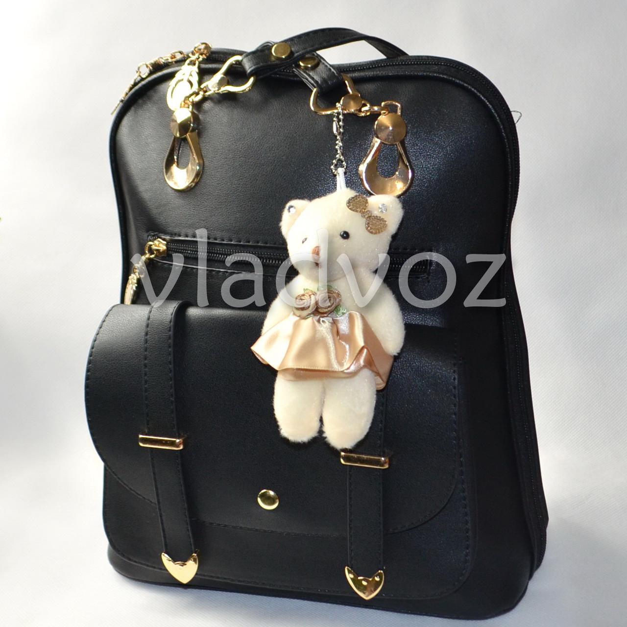 81f0aba35555 Городской женский модный стильный рюкзак сумка чёрный с мишкой, цена ...
