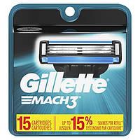 Gillette Mach3 картриджи для мужского станка для бритья 15 шт. (США)