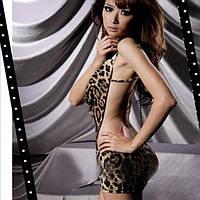 Игровой костюм Леопард, сексуальное платье  туника леопардовая, костюм для ролевых  игр S-M