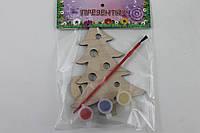 Деревянная раскраска Новогодний презентик: Елка. 6235