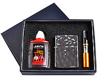 Подарочный набор 3в1 Зажигалка, бензин, мундштук №4722-2 SO