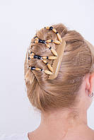 Заколка для волос African butterfly Beada 001 бежевая