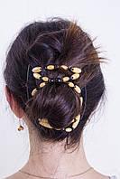 Заколка для густых волос African butterfly Beada 001 черная