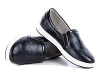 Детские мокасины - слипоны для девочек от фирмы W.Niko 188-7 черный (8пар,31-37)