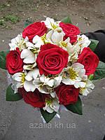 Свадебный букет альстромерия+роза