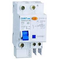 Автоматический выключатель дифференциального тока АВДТ DZ47LE-32 1P+N 0.03A C 20A