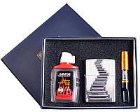 Подарочный набор 3в1 Зажигалка, бензин, мундштук №4722-5 SO