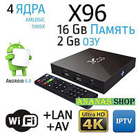 Смарт Приставка Android Enybox X96 2/16gb 4 ядра Amlogic S905X / Smart Tv Box Android 6.0, UltraHD 4K