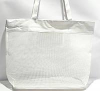 Пляжная прозрачная летняя сумка для пляжа и прогулок белая