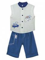 Комплект детский двойка, самолетик ( шорты, футболка), 80.92.104р, 2ЛНР-2