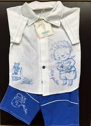 Комплект Моя рыбка,  (шорты, футболка), 104р, 2ЛНМ-1-104