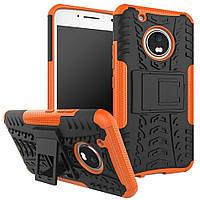 Чехол Motorola Moto G5 / XT1676 противоударный бампер оранжевый
