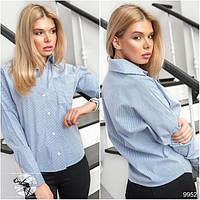 Классическая рубашка из тонкого коттона в полоску