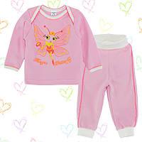 Пижама для новорожденных 8-14 мес Хлопок -интерлок , 0604+070ино В наличии74,80,86 Рост
