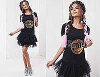 Платье с пайетками  в расцветках 20049, фото 1