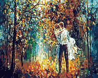 Картина по номерам без коробки BK-GX4368 Романтика опадающих листьев (40 х 50 см) Без коробки