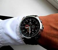 Современные кварцевые часы Tag Heuer Mercedes-Benz для стильных мужчин. Отличное качество. Код: КДН1826
