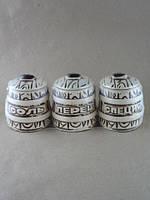 Купить набор для специй из керамики ведра малые тройка в Украине с доставкой