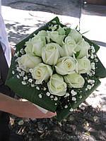 Свадебный букет Роза белая