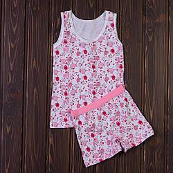 Розовый костюм для девочки с птичками MJ0022