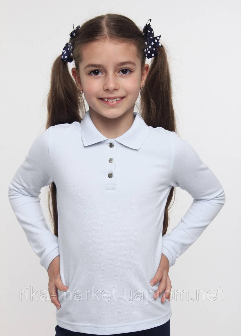 Футболка - поло для девочки длинный рукавТМ Смил  арт. 114533 возраст от 11 - 15 лет