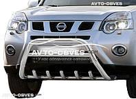 Защитный обвес переднего бампера Nissan X-Trail T31 Ø60*1,6мм