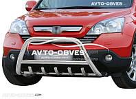 Защитный обвес переднего бампера Honda CR-V нержавейка Ø60*1,6мм