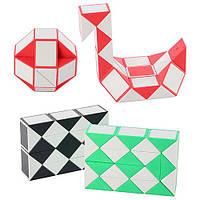 Игра 668-11 (480шт) головоломка, змейка, 3 цвета, в кульке, 9,5-6,5-2,5см