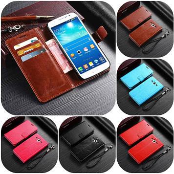 """Samsung G7102 GRAND 2 оригинальный кожаный чехол книжка с карманами НАТУРАЛЬНАЯ ТЕЛЯЧЬЯ КОЖА """"LUXON"""""""