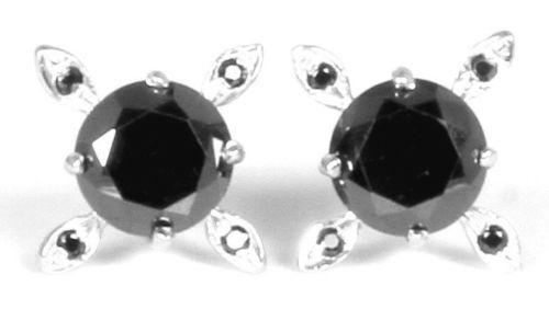 Серьги с черными бриллиантами, цена 2 000 грн., купить в Херсоне ... 10586f7f03f