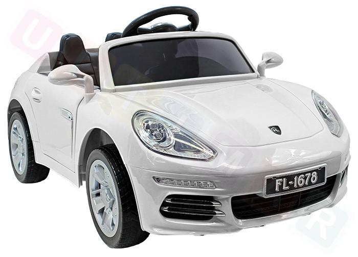 Детский электромобиль FL 1678: EVA, MP3, пульт 2,4 G - Белый (код: 6808486439)- купить оптом