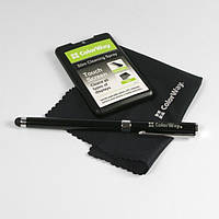 Набор чистящий ColorWay, для ноутбуков, планшетов, смартфонов: Гель для очистки 20 мл, салфетка микрофибра, универсальная ручка-стилус(CW-4811)