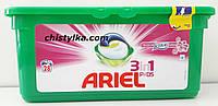 """Капсулы для стирки """"Ariel3-в-1 Touch of Lenor капсулы( универсальные) 28 шт"""